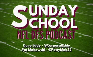 2020 NFL DFS Week 11 Sunday School Podcast