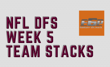2020 NFL DFS Week 5 Team Stacks