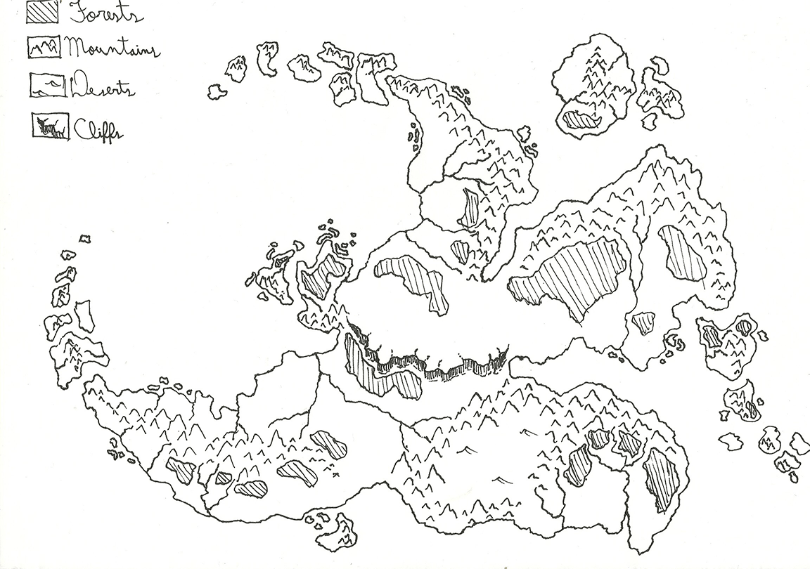 Paid Commission Inquiry Of A World Fantasy Map
