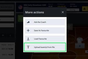 DFS Line-up Upload Feature (BETA) FanTeam