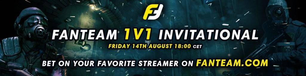 FanTeam 1v1 Invitational bet on your favorite streamer