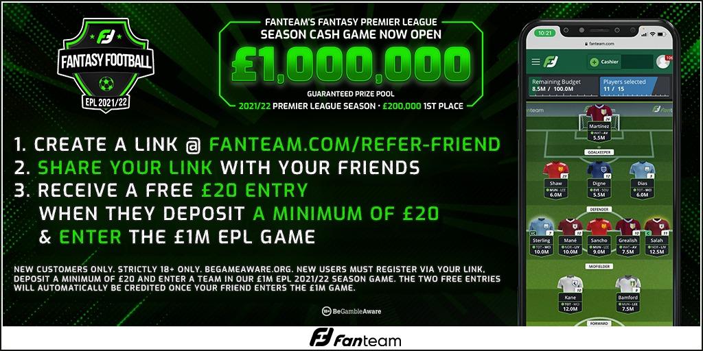 fanteam £1M refer a friend offer