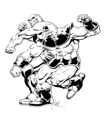 Darkseid vs Thanos by Jim Starlin