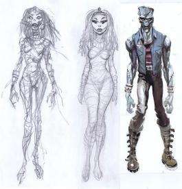 Character sketches for Legion of the Supernatural