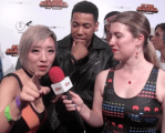 INTERVIEW: Stella Chu & Kevin Mimms on the 'My Hero Academia: Two Heroes' Red Carpet