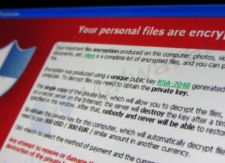screenshot of ransomware