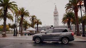 Uber car in San Fancisco