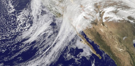 california jet stream as seen from space