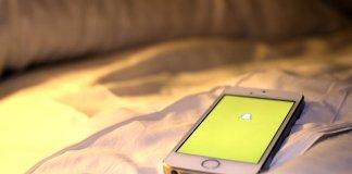 snapchat app open on phone