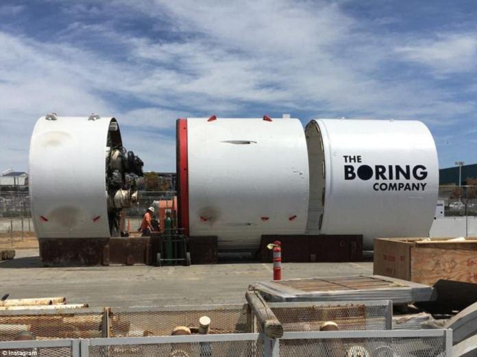 The Boring Company tunnel boring machine the Godot