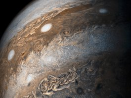 View of Jupiter from outer space