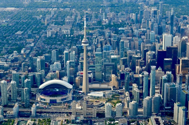 Aerial view of the City of Toronto