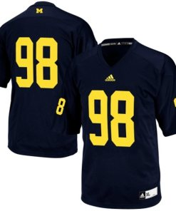 Adidas NCAA Michigan Wolverines #98 Football Premier Team Color Jersey Back