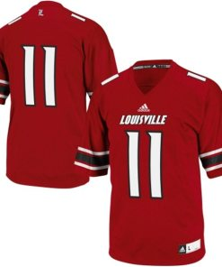 Adidas NCAA Louisville Fighting Irish Louvil #11 Football Premier Team Color Jersey