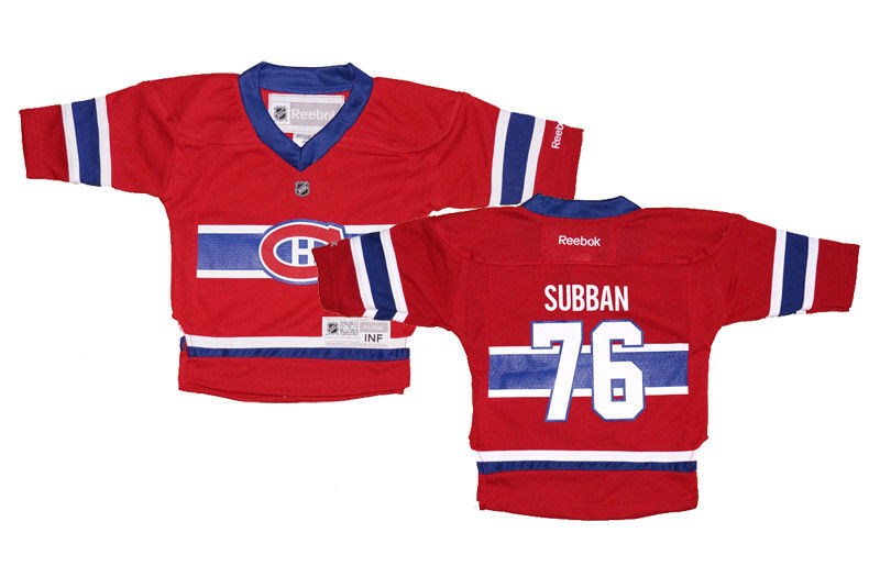 huge discount bd9b4 84a63 Infant (12-24 Mos) Reebok P.K. Subban #76 Montreal Canadiens Replica Home  Jersey | Fanwears