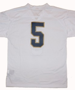 Adidas NCAA Notre Dame Fighting Irish White #5 Football Premier Team Color Jersey Front