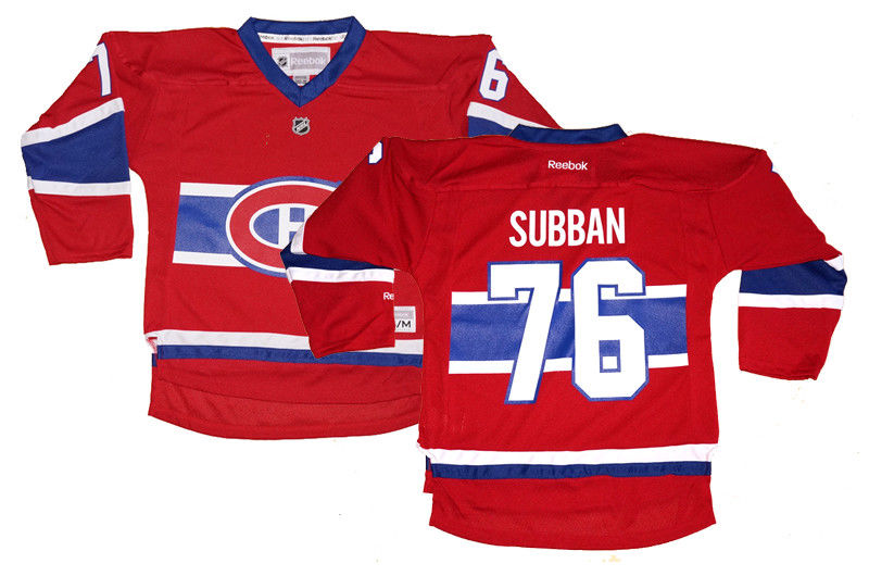 new style b3a20 a9bbf Youth P.K. Subban #76 Montreal Canadiens NHL Reebok Replica Home Jersey |  Fanwears