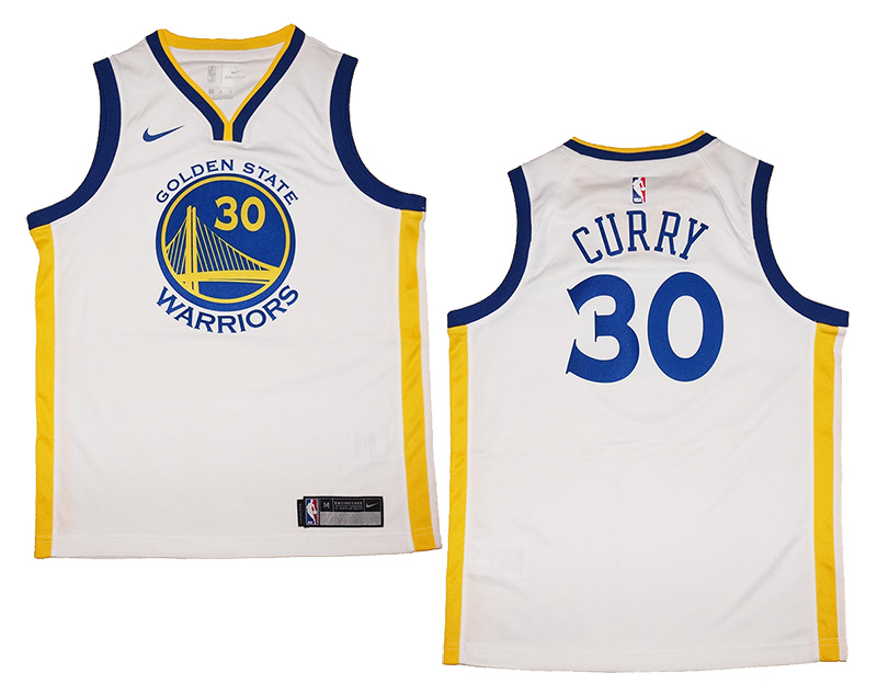 695ec8a144ce Youth Nike Golden State Warriors  30 Stephen Curry White Swingman ...