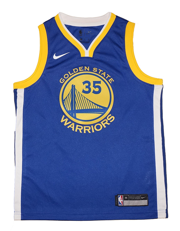 daa59d593bc Youth Nike Golden State Warriors  35 Kevin Durant Royal Blue ...