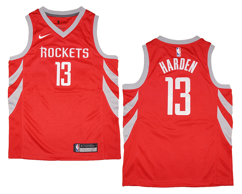 new arrival 4c48d 887ee Youth Nike Houston Rockets #13 James Harden Red Swingman Jersey | Fanwears
