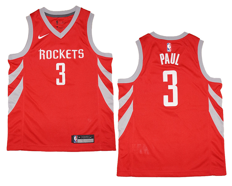 new style 6cdbd ab5bd Youth Nike Houston Rockets #3 Chris Paul Red Swingman Jersey | Fanwears