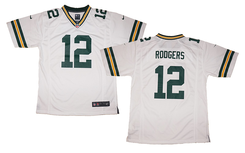 8b88a8dd187d4 Youth Nike Aaron Rodgers #12 Green Bay Packers NFL Game Jersey ...