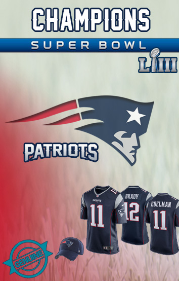 New England Patriots Super Bowl Jersey