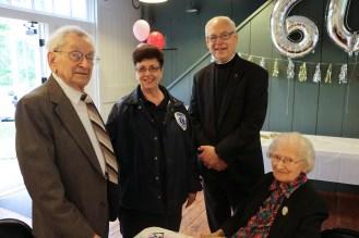 Joann and Bob Gurskes with Bob and Grace