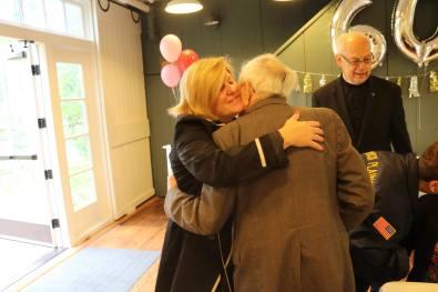 Mayor Colleen Mahr and Bob