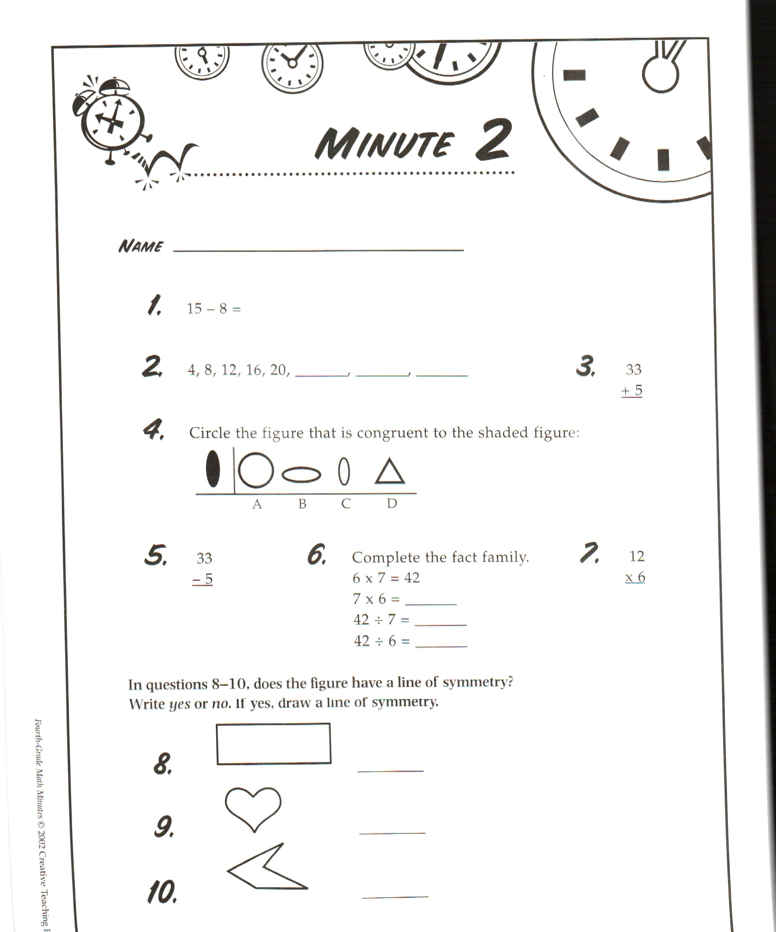 Worksheet Math Minute Worksheet Fun Worksheet Study Site