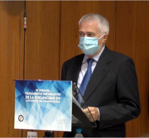 El presidente de la FAPE, Nemesio Rodríguez, durante su intervención