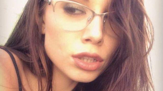hot girl wearing glasses