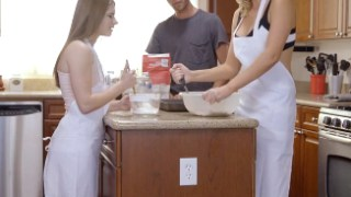 Horny MILF Tricks Alice March Into Fucking in The Kitchen