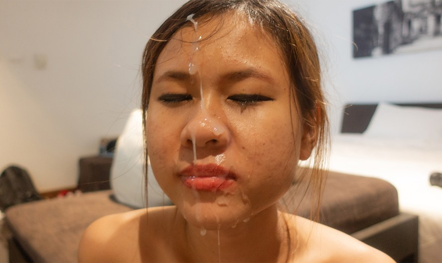 Asian Cum Facial, Pussy Exploration & Suck