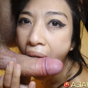 Sucking side of cock in Horny Asian Porn