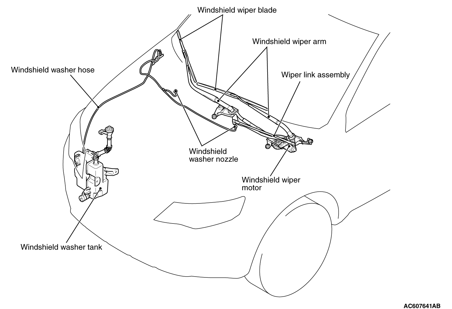 Chevy Wiper Cable Diagram