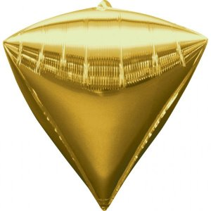 Orbz Diamond Gold Balloon