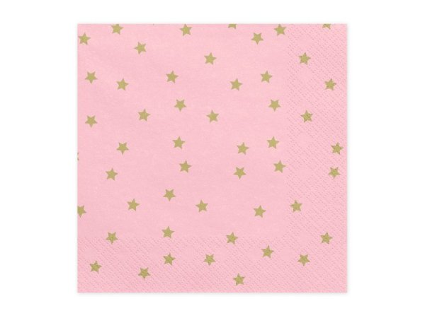"Napkins ""Stars & Pink"" for a Party 
