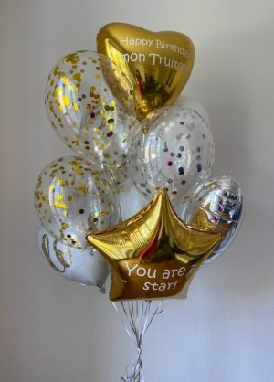 "Balloon set with 2 custom texts ""Karina�"