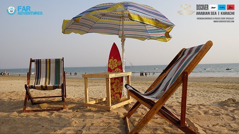 Tropical Beach Party Setup