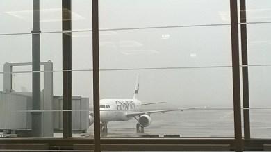 Látvány a reggeli ébredéshez a helsinki repülőtéren...