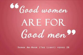 good women are for good men