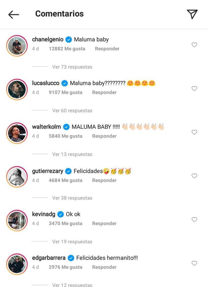 comentarios - maluma sera papa 1