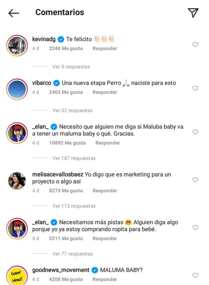 comentarios - maluma sera papa 3