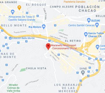 ubicación del concesionario de Ferrari en Caracas