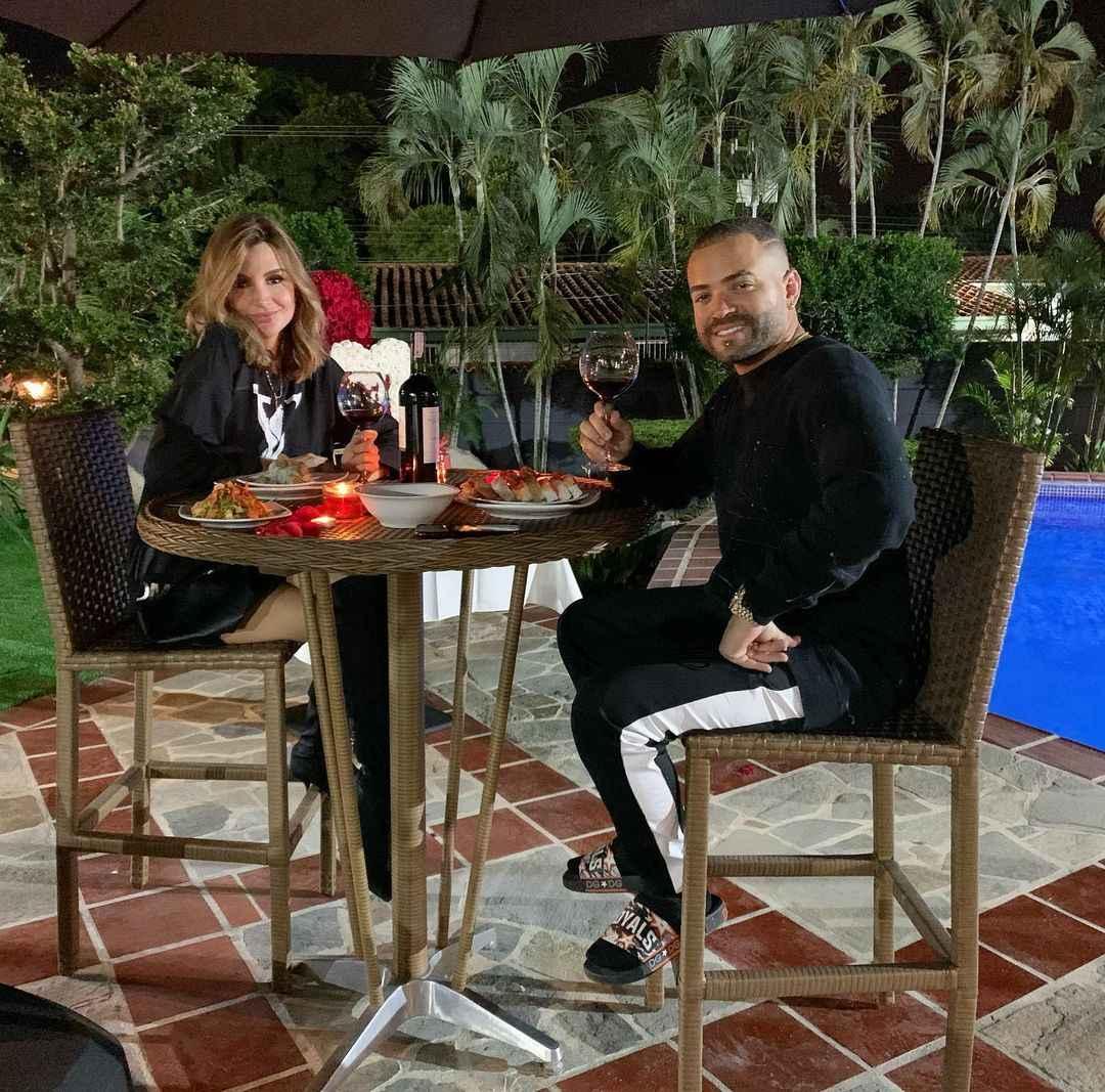 cena del dia de los enamorados de Nacho y Melany Mille 1