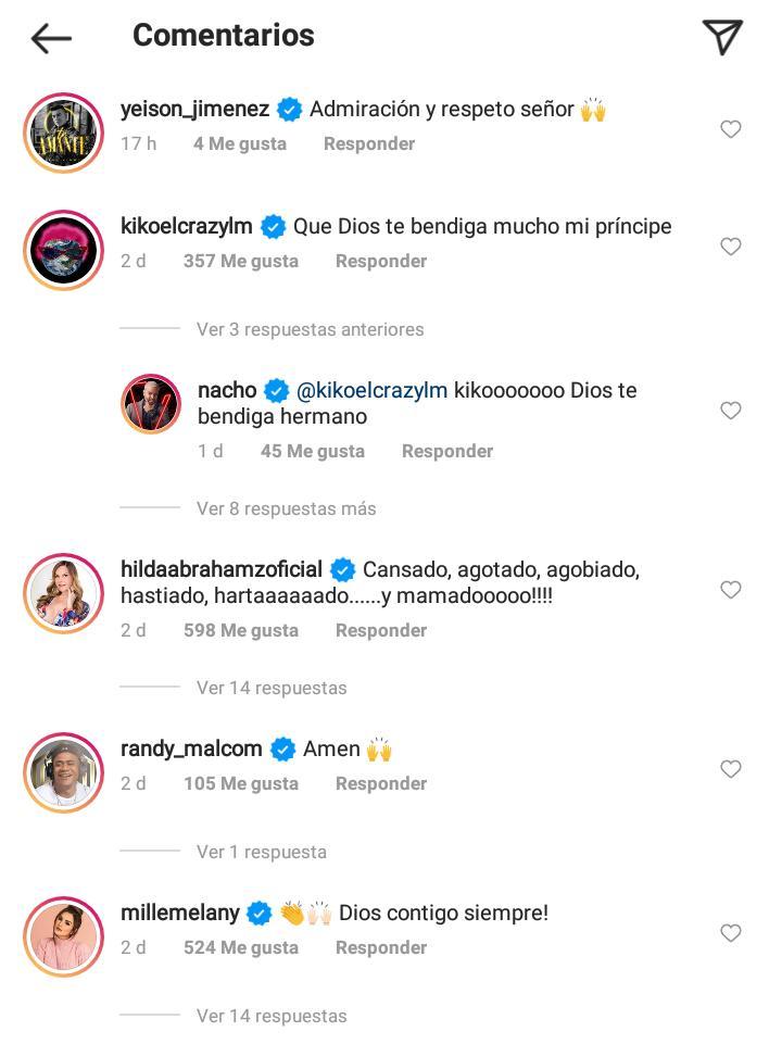comentarios a nacho en instagram 1