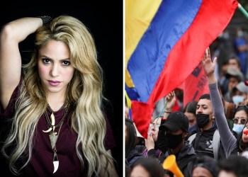 Shakira se pronuncia ante la violencia en Colombia