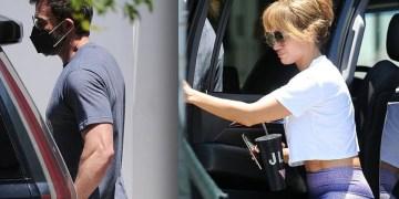 Jennifer Lopez y Ben Affleck entrenando en Miami