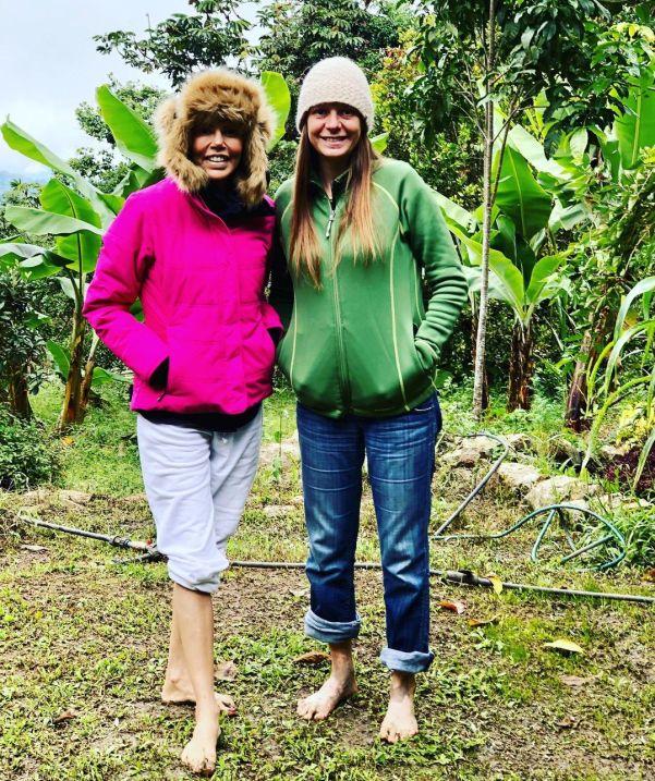Josemith junto a su amiga Karla Peña en un retiro espiritual en la Azulita, estado Mérida